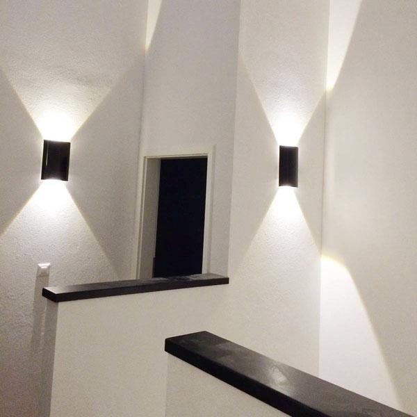 Indirekte Gangbeleuchtung mit speziellem Lichteffekt
